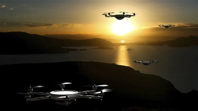 pilote de drone arrete